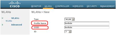 WLAN ssid profile